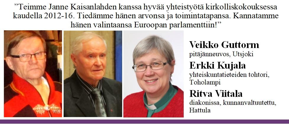 Veikko Guttorm, Erkki Kujala ja Ritva Viitala